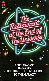<i>The Restaurant at the End of the Universe</i> 1980 book by Douglas Adams