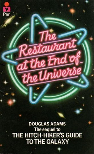 The Restaurant at the End of the Universe - Cover of the first edition