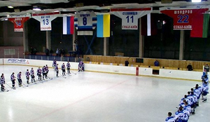 Sokil Kiev - Retired jerseys as they appear hanging from the rafters
