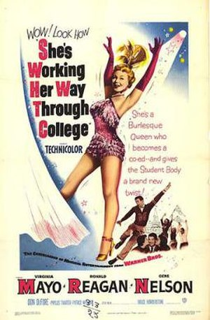 She's Working Her Way Through College - Theatrical release poster