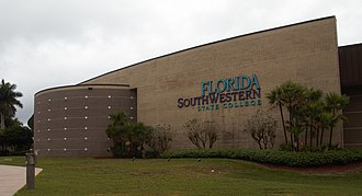 Florida SouthWestern State College - Lee Campus sign in 2019
