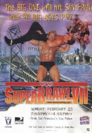 SuperBrawl VII - Promotional poster featuring Lex Luger, Buff Bagwell, Rick Steiner, Scott Steiner and Scott Norton