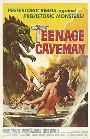 Teenage Caveman (1958 film) - Theatrical release poster  by Reynold Brown