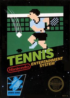 <i>Tennis</i> (1984 video game) 1984 sports game published by Nintendo and Hudson Soft