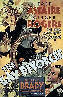 <i>The Gay Divorcee</i> 1934 film by Mark Sandrich