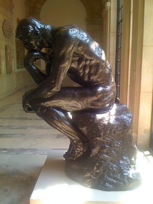 "Baltimore Museum of Art - Auguste Rodin's ""The Thinker"" (1904)."