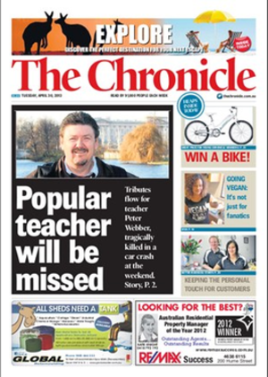 The Toowoomba Chronicle - Image: Toowoomba Chronicle Front Page
