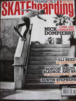 Transworld Skateboarding - June 2009 cover featuring Nick Dompierre