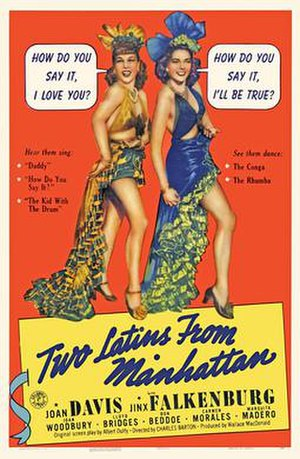Two Latins from Manhattan - Theatrical poster for the film