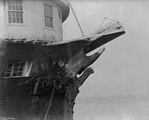 USS Lancaster Eagle - Eagle figurehead on the bow of the Lancaster