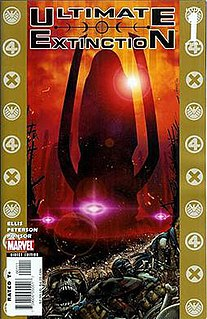 <i>Ultimate Galactus Trilogy</i> collection of three comic book limited series published by Marvel Comics