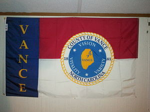 Vance County, North Carolina - Vance County flag.