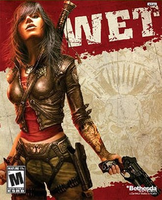 Wet (video game) - The game's cover art features protagonist Rubi Malone