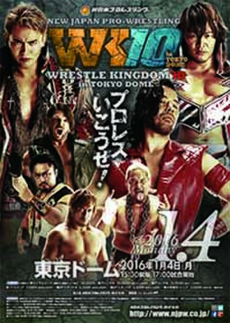 Wrestle Kingdom 10 - Promotional poster for the event, featuring various NJPW wrestlers