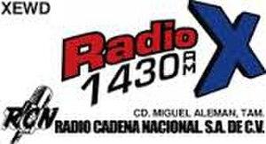 "XEWD-AM - Logo as ""Radio X"""