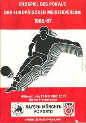 1987 European Cup Final - Image: 1987 European Cup Final programme
