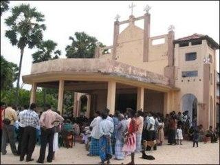 St. Philip Neri Church shelling