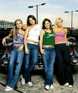 Bardot (Australian band) - Bardot as a four-piece in 2001. From left: Belinda Chapple, Tiffani Wood, Sally Polihronas and Sophie Monk.