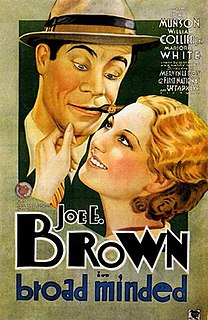 <i>Broadminded</i> (film) 1931 American comedy film directed by Mervyn LeRoy