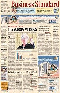 <i>Business Standard</i> Indian English-language daily newspaper