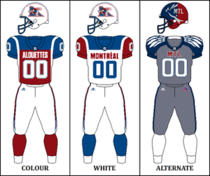Montreal Alouettes - Image: CFL MTL Jersey with alternate