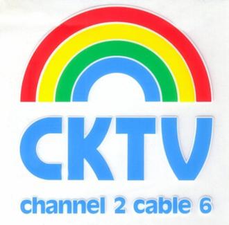 """CKCK-DT - CKCK-TV's logo in the 1980s, as """"CKTV""""."""