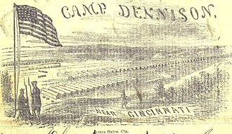 Camp Dennison - Camp Dennison on military notepaper. The soldier who used this paper indicated the illustration is accurate