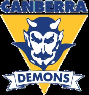 Eastlake Football Club - Image: Canberra demons logo