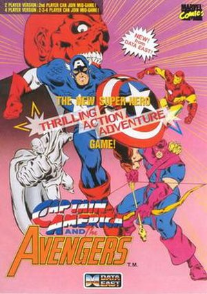 Captain America and The Avengers - Arcade flyer