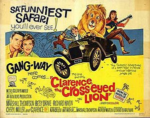 Clarence, the Cross-Eyed Lion - Theatrical poster