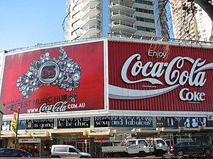 Coca-Cola billboard - The Coca-Cola billboard