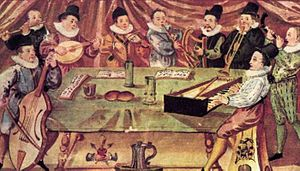 "Broken consort - A Music College, from ""Gymnasium illustre"", Lauingen, Germany, c. 1590"