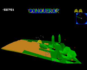 Conqueror (video game) - In-game screenshot (Amiga)