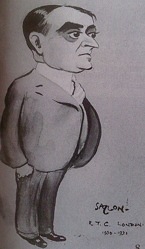 C. P. Ramaswami Iyer - A sketch of Sir C. P. Ramaswami Iyer in a London newspaper during the Third Round Table Conference