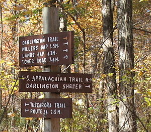 Tuscarora Trail - Image: Darlington Signs