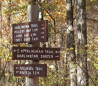 Tuscarora Trail - Image: Darlington Signs