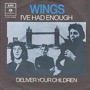 Deliver Your Children - Image: Deliver Your Children cover