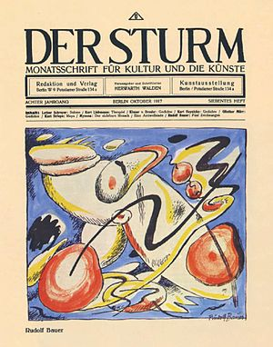 Herwarth Walden - Der Sturm for October 1917. Cover art by Rudolf Bauer