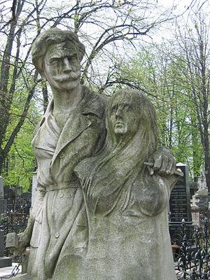 Đorđe Jovanović - Statue at Jovanovic's tomb