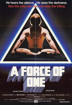 A Force of One - Promotional film poster