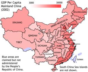 GDP per capita China 2002