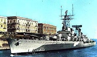 Italian cruiser Giuseppe Garibaldi (1936) - Image: Garibaldi 1961 coloured