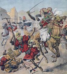Surĉevalaj francaj goumier'oj kalumniantaj marokajn tribulojn pliiĝis kaj sur piedo