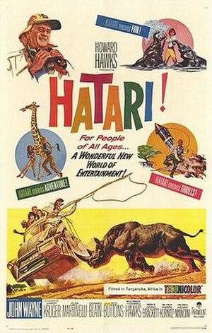 Hatari! - Original movie poster by Frank McCarthy