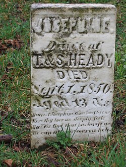Heady Cemetery in Fishers, Indiana