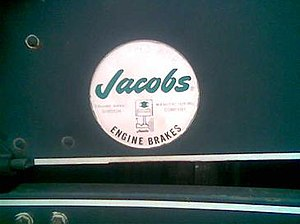 Compression release engine brake - Jacobs Engine Brake Division logo.