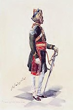 painting of a soldier