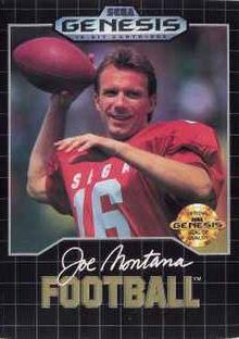 Image result for joe montana football sega genesis