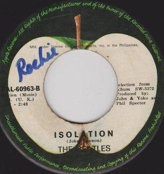 Isolation (John Lennon song) - Image: John Lennon Isolation sleeve
