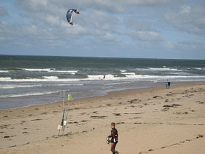 Kitesurfing is a popular activity in Noordwijk...